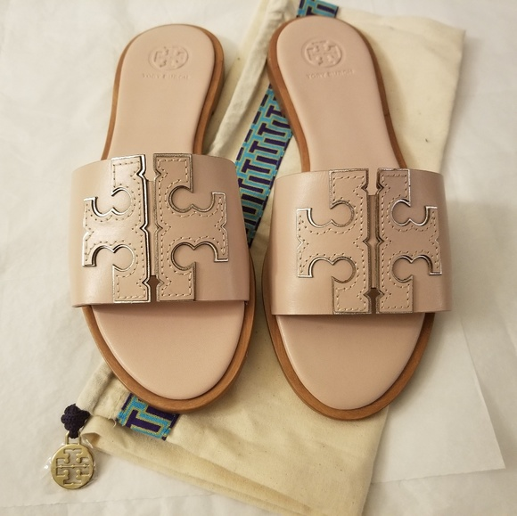 168a9b9fc85a Tory Burch Ines Leather Slide Sandals Sz. 7 NWOB. M 5c07c69b819e906758209544